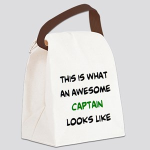 awesome captain Canvas Lunch Bag