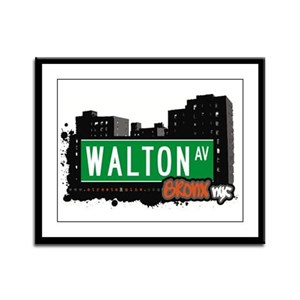 Walton Av, Bronx, NYC Framed Panel Print