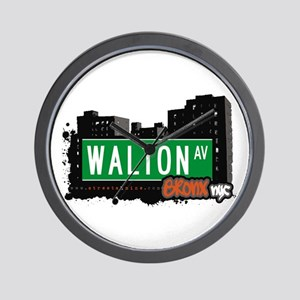 Walton Av, Bronx, NYC Wall Clock