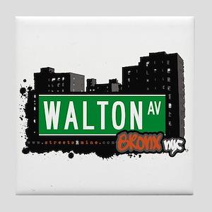 Walton Av, Bronx, NYC Tile Coaster