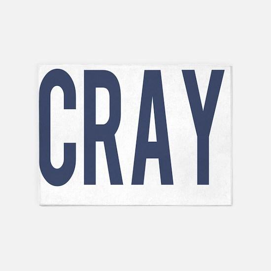 CRAY Blue 5'x7'Area Rug