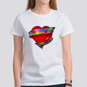 Red Heart w/ Ribbon Women's T-Shirt