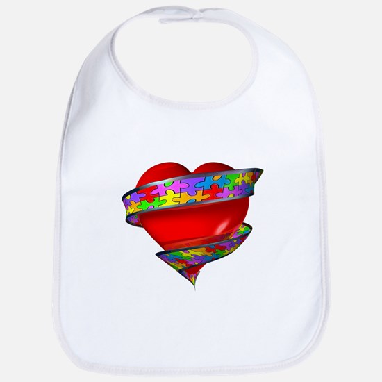 Red Heart w/ Ribbon Bib
