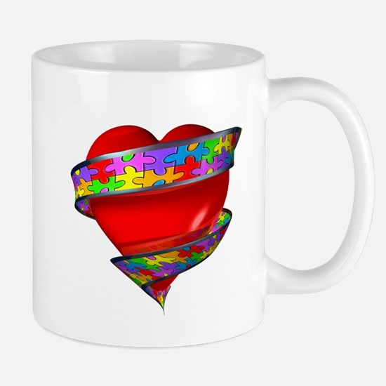 Red Heart w/ Ribbon Mug