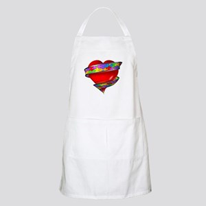Red Heart w/ Ribbon BBQ Apron