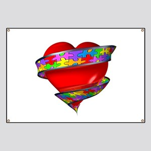Red Heart w/ Ribbon Banner