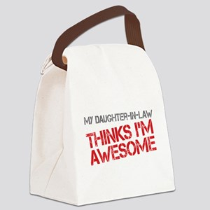 Daughter-In-Law Awesome Canvas Lunch Bag