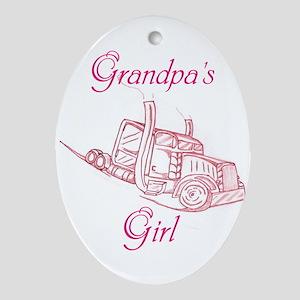 Grandpas Girl Ornament (Oval)