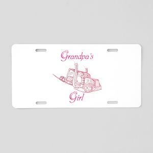 Grandpas Girl Aluminum License Plate