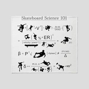Skateboard Science 101 Throw Blanket