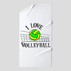 LOVE VOLLEYBALL Beach Towel