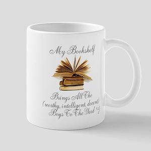 My Bookshelf Brings All The Boys Mugs