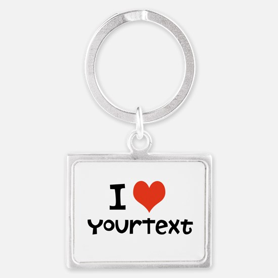 CUSTOMIZE I heart Keychains