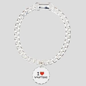 CUSTOMIZE I Heart Charm Bracelet, One Charm