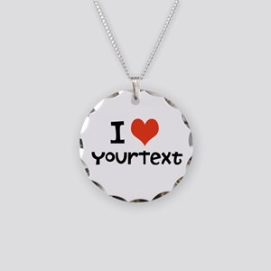 CUSTOMIZE I Heart Necklace Circle Charm