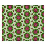 Green Retro Mandala Pattern King Duvet