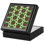Green Retro Mandala Pattern Keepsake Box