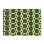 Green Retro Mandala Pattern 5'x7'Area Rug