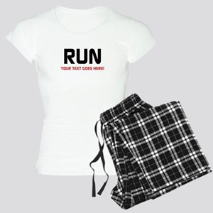 Run - Your Text Personalized Pajamas
