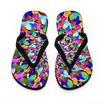 Rainbow Spiral Fractal Art Flip Flops