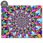 Rainbow Spiral Fractal Art Puzzle