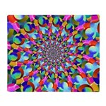 Rainbow Spiral Fractal Art Throw Blanket