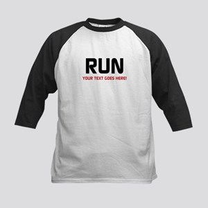 Run - Your Text Personalized Baseball Jersey