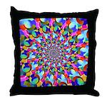 Rainbow Spiral Fractal Art Throw Pillow