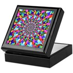Rainbow Spiral Fractal Art Keepsake Box