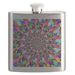 Rainbow Spiral Fractal Art Flask