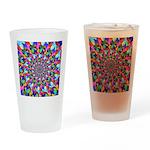 Rainbow Spiral Fractal Art Drinking Glass