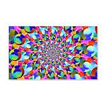 Rainbow Spiral Fractal Art Wall Decal