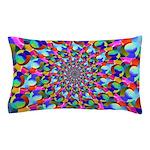 Rainbow Spiral Fractal Art Pillow Case
