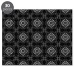 Black and White Retro Fractal Pattern Puzzle