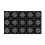 Black and White Retro Fractal Pattern Wall Decal