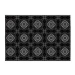 Black and White Retro Fractal Pattern 5'x7'Area Ru