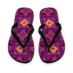 Purple Kaleidoscope Pattern Flip Flops
