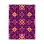 Purple Kaleidoscope Pattern Twin Duvet