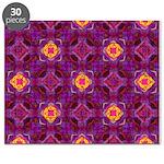 Purple Kaleidoscope Pattern Puzzle