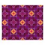 Purple Kaleidoscope Pattern King Duvet