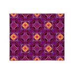 Purple Kaleidoscope Pattern Throw Blanket