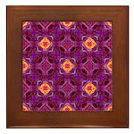 Purple Kaleidoscope Pattern Framed Tile