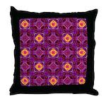 Purple Kaleidoscope Pattern Throw Pillow