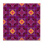 Purple Kaleidoscope Pattern Tile Coaster