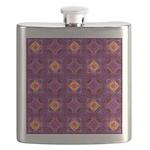 Purple Kaleidoscope Pattern Flask