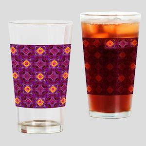Purple Kaleidoscope Pattern Drinking Glass