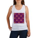 Purple Kaleidoscope Pattern Tank Top