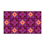 Purple Kaleidoscope Pattern Wall Decal