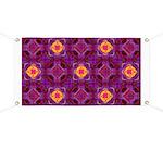 Purple Kaleidoscope Pattern Banner