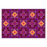 Purple Kaleidoscope Pattern Posters